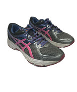 Asics Womens Gel Conteno 2 T474N Gray Pink Running Shoes Lace Up Size 10 - $35.53