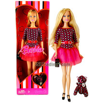 Year 2007 XO Valentine Series 12 Inch Doll - BARBIE in Pink Heart-Patter... - $44.99