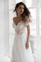 Off The Shoulder Appliqued Bride Dresses A Line Elegant Lace Wedding Bridal Gown image 2