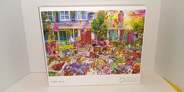 USED Buffalo Jigsaw Puzzle 2000 Pieces Yard Sale 39 X 27 Inches - $44.54