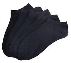 Set of 5 Short Socks Cotton Socks Men Socks Sports Socks Black #01 - $16.49