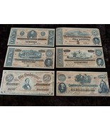 Lot of confederate banknote money facsimile bills 1864 $100 $50 $ 20 $10... - $17.22