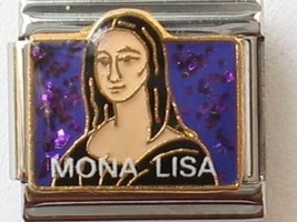 Mona Lisa 9mm Classic Size Italian Charms  Stainless Steel - $3.09