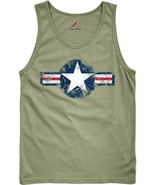 Olive Drab US Army Star Air Corp Tank Top - $11.99+