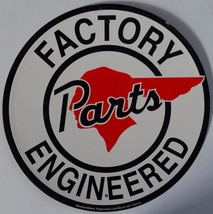 Pontiac Factory Parts Engineered Service Logo Round Metal Sign - $14.95