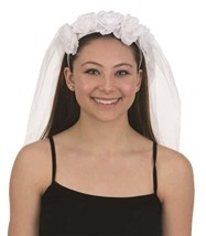 Jacobson Hat Company 28301 Wedding Veil Headband 28 Inch with Flowers Ba... - €8,76 EUR