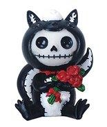 2.75 Inch Furrybones Odo Skunk Costume Holding Flowers Sitting Statue - $9.89
