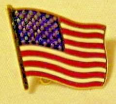 Lapel Pin Waving USA Flag Patriotic Red White Blue Stars & Stripes - $4.90