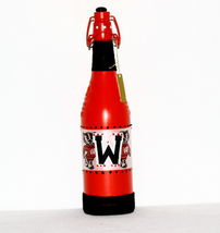 Red Wisconsin Badgers Univ Decorated Wine Bottle Football Home Decor Col... - $16.00
