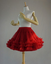Red Layered Tulle Tutu Skirt Puffy Ballerina Tulle Skirt Ballet Skirt image 3