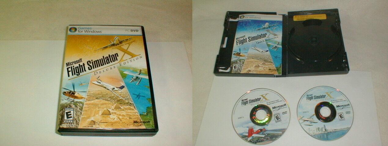 Microsoft Flight Simulator X Deluxe Edition PC DVD Game Win XP/Vista 2005