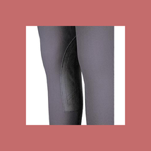 Devon-Aire Ladies All-Pro Dev-Tek Ribbed Hipster Breeches Small Charcoal - NEW! image 3