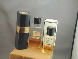 Vintage Chanel No 5 Spray Cologne 1.7oz FULL + 2 Other Partial Bottles - $89.99