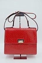 NWT Kate Spade New York Red Ostrich Leather Knightsbridge Doris Satchel ... - £190.31 GBP