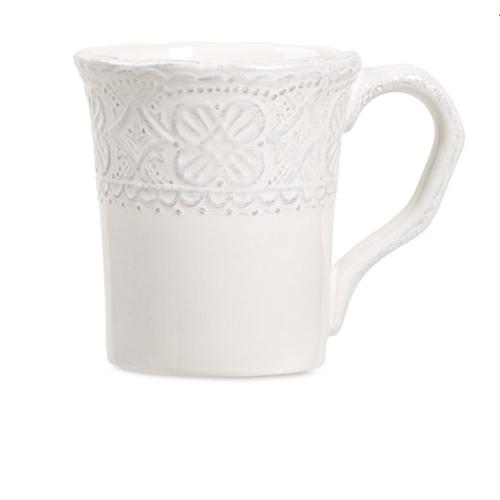 Maison Versailles Blanc Elisabeth Mug WHITE Set of 4