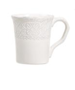 Maison Versailles Blanc Elisabeth Mug WHITE Set of 4 - $30.00
