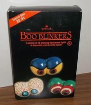 Vtg 1989 Hallmark Halloween Boo Blinkers SPOOKY EYES Blow Mold Light Str... - €26,15 EUR