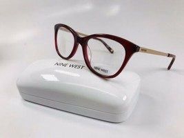 New Nine West NW8004 602 Crystal Burgundy Eyeglasses 50mm with Case - $49.45