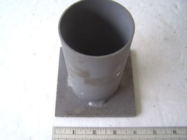 """Aluminum 4"""" Base Plate with Welded 2 7/16"""" Insi... - $9.50"""
