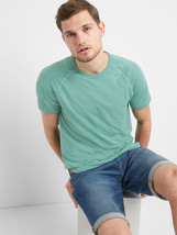 GAP Men's Raglan Classic T-Shirt Turquoise Smoke, 100% Cotton, Size M, NWT - $26.96