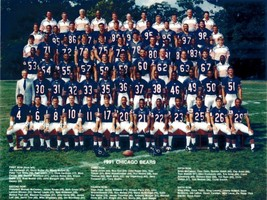 1991 CHICAGO BEARS 8X10 TEAM PHOTO FOOTBALL NFL PICTURE - $3.95