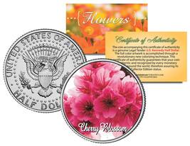 CHERRY BLOSSOM FLOWER JFK Kennedy Half Dollar US Colorized Coin - $8.95