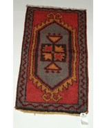 HAK Carpets and Kilims DV131 Old Turkish Hand Made Wool Multi Colored - $151.00