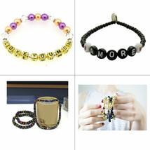 100pcs Alphabet Letter Number Mixed Beads Acrylic Bracelet Arts Craft Je... - $6.90+
