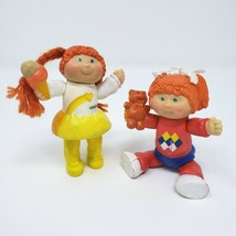 2 VINTAGE 1983 BABY CABBAGE PATCH KIDS GIRLS POSEABLE PVC ACTION FIGURE ... - $25.71