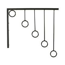 1 PC Clothes Display Rack Coat Robe Pants Tie 5 Ring Holder Wall Hanger ... - €31,15 EUR
