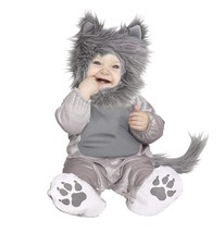 Fun World Unisex-Children Wolf Cub Toddler Costume, Multicolor, Small - $24.13