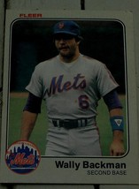 Wally Backman, Mets,  1983  #537 Fleer Baseball Card GD COND - $0.99