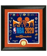"""NBA Disney World """"Make History"""" Framed Lithograph with coin LIMITED - $192.14"""