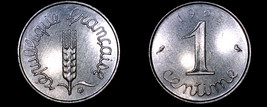 1965 French 1 Centime World Coin - France - $3.99