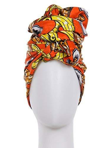 "African Print Cotton Scarf Wrap 71"" x 23"" (Multi 1)"