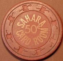 50¢ Casino Chip. Sahara, Las Vegas, NV. 1952. Card Room. S97. - $6.50