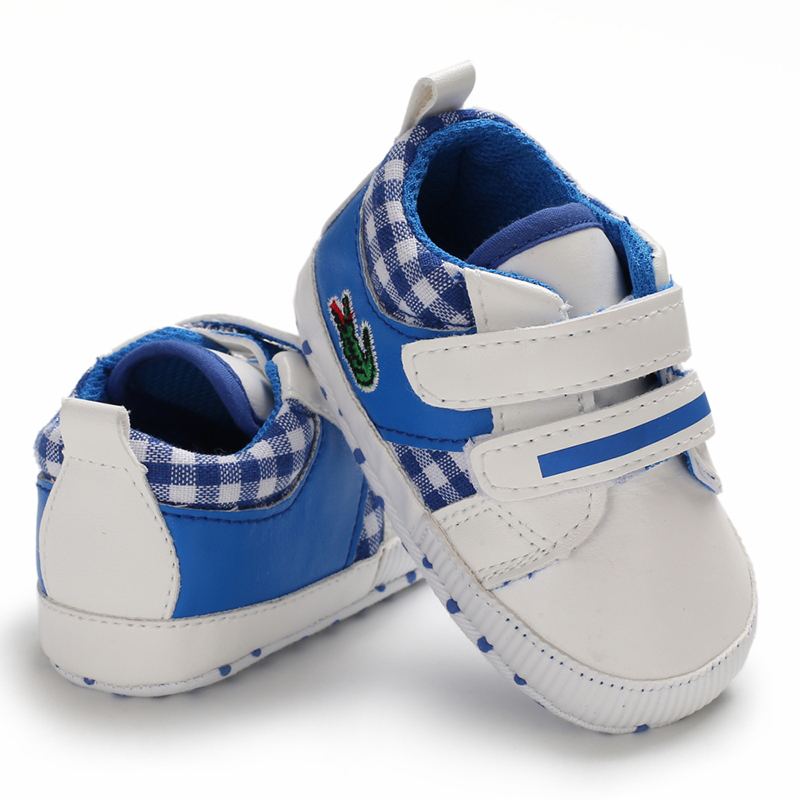 Free Shipping Blue Baby Walking Shoes Leather Toddler Shoes Size 1,2,3 L6482 image 2