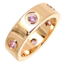 Cartier 750PG US 6 LOVE Pink Sapphire Ring Pink Gold Used Very good cond... - $2,109.47