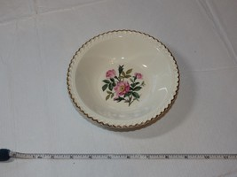 """The Harker Pottery Co. Made in USA 22 KT Gold Trim 1 small salad bowl 6"""" ~ - $13.60"""