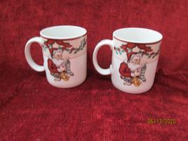 Fitz & Floyd Santa's List  set of 2 mugs - $9.85