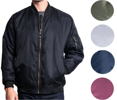 New Men's USA Premium Padded Water Resistant Reversible Flight Bomber Jacket