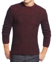 Alfani Men's Marled Red Combo Black Crewneck Knit Pullover Sweater New - $24.99