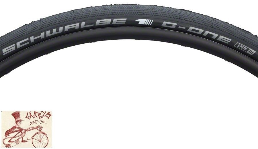 SCHWALBE G-ONE TUBELESS 700 X 30 ONESTAR COMPOUND MICROSKIN FOLDING BEAD TIRE