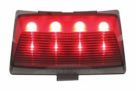 United Pacific 37094 8 LED Harley Fender Tip Light - Red LED/Smoke Lens - $28.99