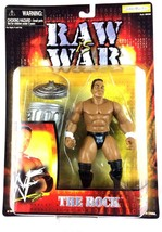 The Rock WWF WWE Jakks Action Figure Raw is War 1999 Trash Can Grapple G... - $24.70