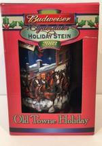 2003 Budweiser Clydesdales Old Towne Holiday Stein New Collectable - $18.70