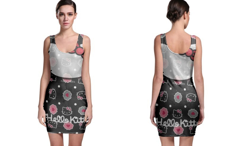 Primary image for Damn Hello Kitty BODYCON DRESS FOR WOMEN