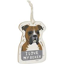 Primitives by Kathy Wooden Hanging Ornament, 2-Sided - I Love My Boxer - $12.02