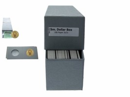 """Guardhouse Grey/Small Dollar Coin Box with 100 flips, 2"""" x 2"""" x 8.5"""" - $8.08"""