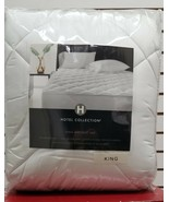 Hotel Collection 500 TC Cotton Down Alternative KING Mattress Pad WHITE ... - $79.20